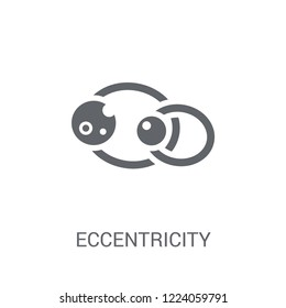 Eccentricity icon. Trendy Eccentricity logo concept on white background from Astronomy collection. Suitable for use on web apps, mobile apps and print media.