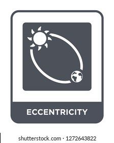 eccentricity icon vector on white background, eccentricity trendy filled icons from Astronomy collection, eccentricity simple element illustration