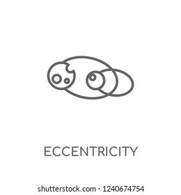 Eccentricity linear icon. Modern outline Eccentricity logo concept on white background from ASTRONOMY collection. Suitable for use on web apps, mobile apps and print media.