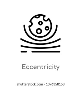eccentricity vector line icon. Simple element illustration. eccentricity outline icon from astronomy concept. Can be used for web and mobile