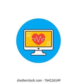 ecg, electrocardiography, heart diagnostic icon