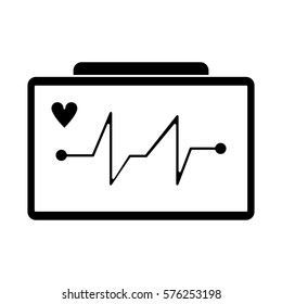ecg heart machine medical device pictogram