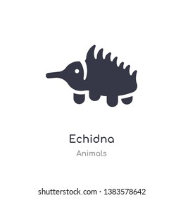 echidna icon. isolated echidna icon vector illustration from animals collection. editable sing symbol can be use for web site and mobile app
