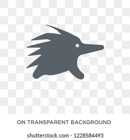Echidna icon. Trendy flat vector Echidna icon on transparent background from animals  collection. High quality filled Echidna symbol use for web and mobile