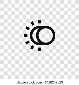 eclipse icon from miscellaneous collection for mobile concept and web apps icon. Transparent outline, thin line eclipse icon for website design and mobile, app development
