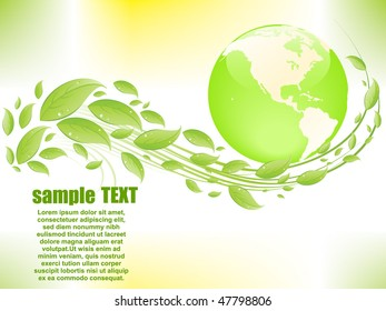 Eco abstract background