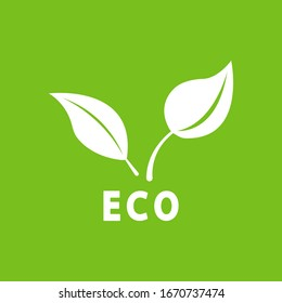Eco background. Graphic template. Vector illustration