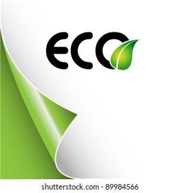 eco background with leaf logo