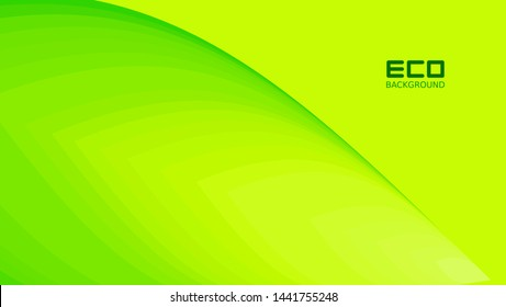 Eco backgrounds are green with leaf patterns for business posters and presentations, natural backgrounds