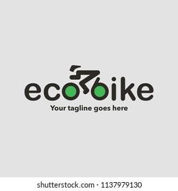 Eco bike logo design. Vector illustration.