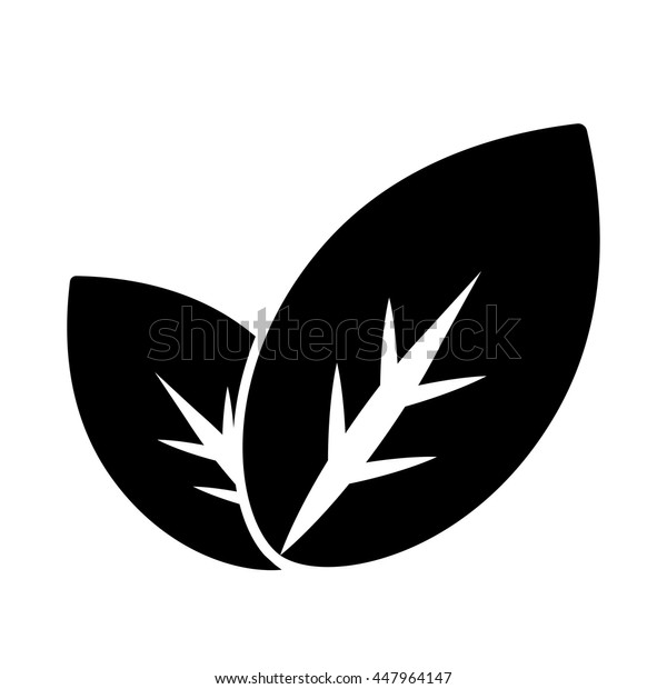 eco bio leaves plant green icon on white background