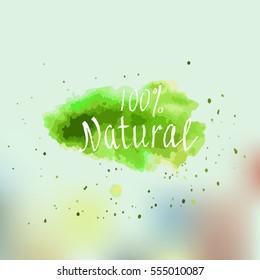 Eco, Bio, Organic, Gluten free, Natural, Vegan Lettering. Modern Hand Drawn Ecological Food Background. Creative Brush Calligraphy.