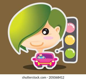 Eco Boy Traffic Light