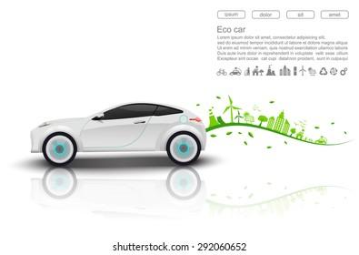 ECO car concept.vector