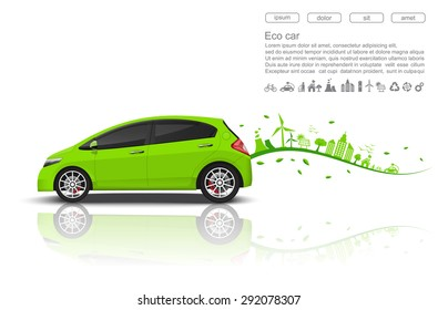 eco car conceptvector