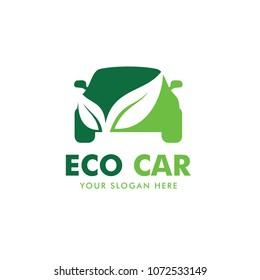 Eco Car Logo Design Vector