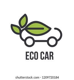 eco car logo icon design vector