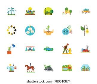 Eco city icon set - Shutterstock ID 780510874