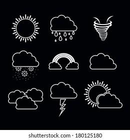 eco design over black background vector illustration