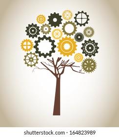 eco design over bronze background vector illustration