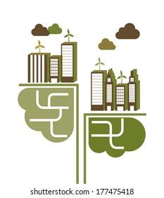 eco design over white  background vector illustration
