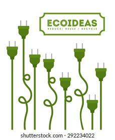 eco design over white background, vector illustration