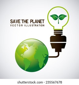 eco  design , vector illustration