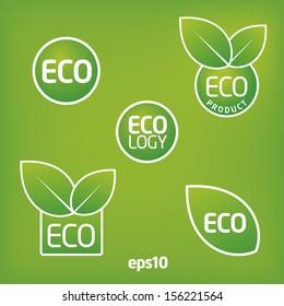 Eco, ecology label sticker