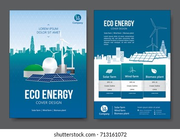 Eco energy brochure design. Vector illustration