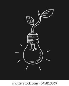 eco energy bulb doodle