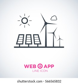 eco energy isolated minimal icon. infographic line vector icon for websites and mobile minimalistic flat design.