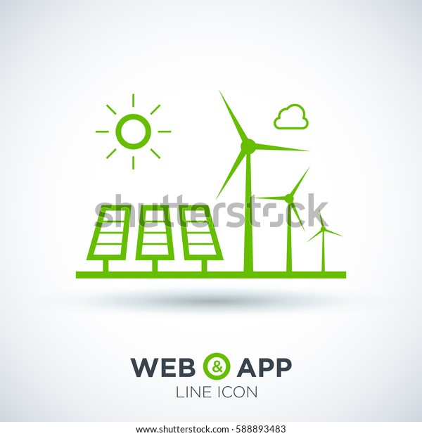 eco energy isolated minimal icon. info-graphic line vector icon for websites and mobile minimalistic flat design.