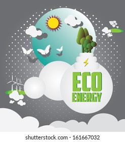 Eco energy. Let's Save the world together concept.vector illustration,