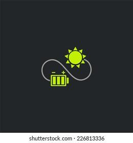 Eco energy logo. Recycle, energy saving symbols. Ecology icons set