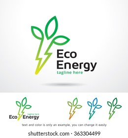 Eco Energy Logo Template Design Vector