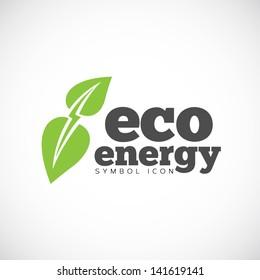 Eco energy symbol icon/ logo template