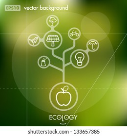 Eco and Environment Creative Icon Background Concept