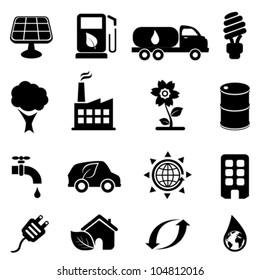 Eco and environment icon set