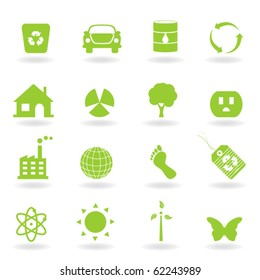 Eco and environment icon set