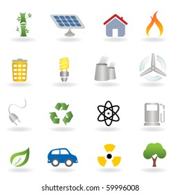 Eco and environment related icon set