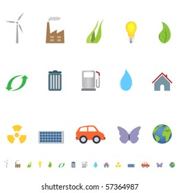Eco and environment symbols and icons
