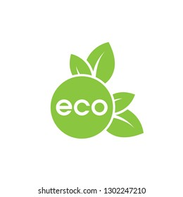 Eco flat vector icon. Ecology flat vector sign. Tree leaf flat vector icon