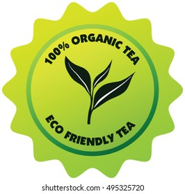 Eco friendly 100 percent organic Tea Label