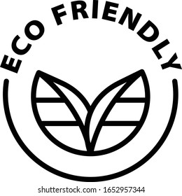 eco friendly black outline icon