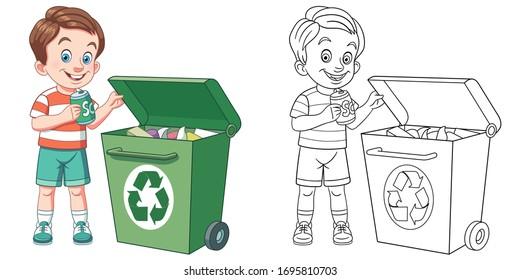 Ilustración del cubo de basura, taza de vidrio vajilla, papelera de  reciclaje PNG Clipart   PNGOcean