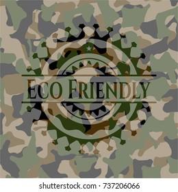 Eco Friendly camo emblem