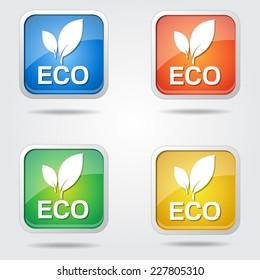 Eco Friendly Colorful Vector Icon Design