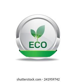 Eco Friendly Green Vector Icon Button