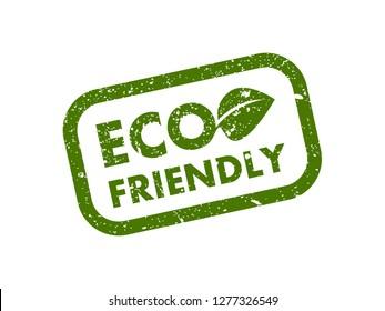 ECO friendly grunge stamp