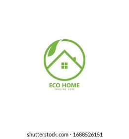 Eco friendly home logo vector icon illustration design